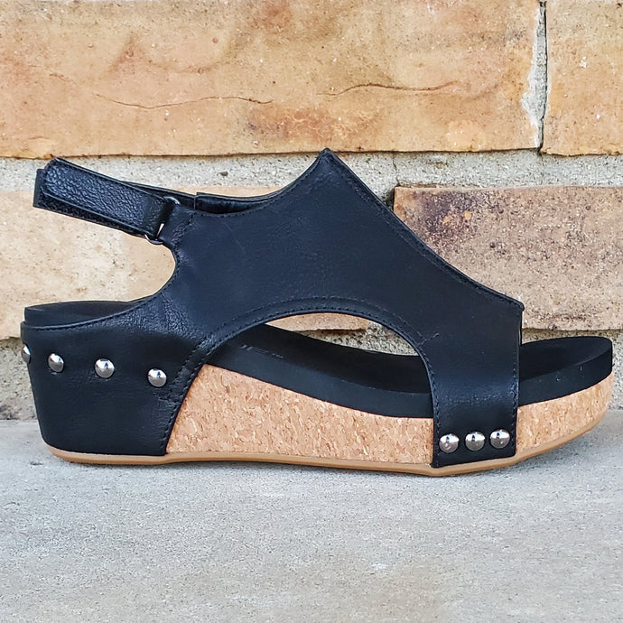 Black Shadows Platform Sandals