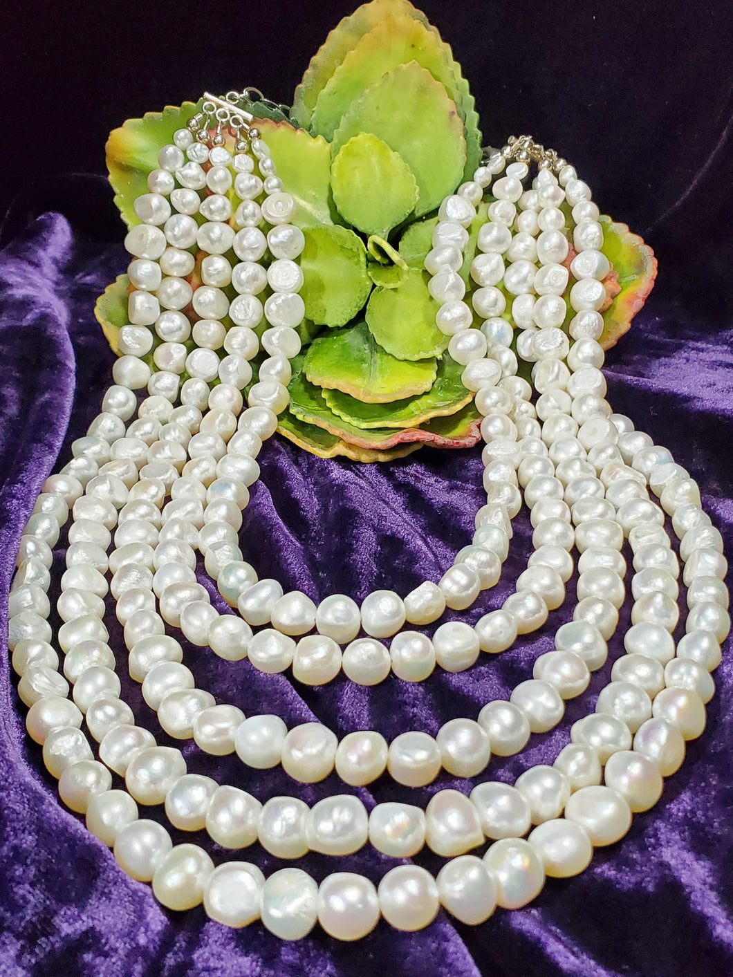 Genuine Freshwater Pearl Multi Strand Necklace