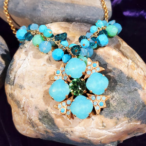 Popesco Seascape Statement Necklace