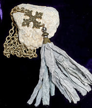 Load image into Gallery viewer, Victorian Cross Tassel Necklace