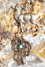 Load image into Gallery viewer, Silver Stag Necklace