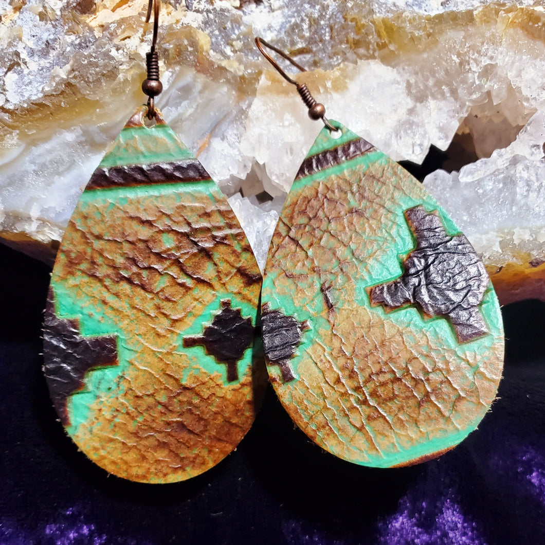 Stampede Leather Earrings