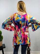 Load image into Gallery viewer, Aurora Multi Colored Cold Shoulder Top