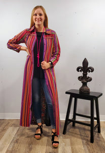 Sarah Serape Shirt/Dress/Duster