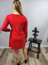 Load image into Gallery viewer, Red Tunic Dress
