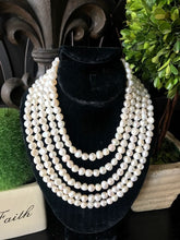 Load image into Gallery viewer, Genuine Freshwater Pearl Multi Strand Necklace