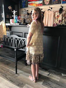 Creamy Lace Tunic Top