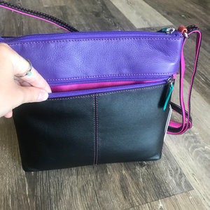 Cross Body Front Zip Organizer