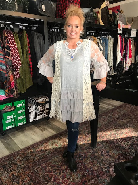 Ingrid Silver Linings Lace Tunic Dress