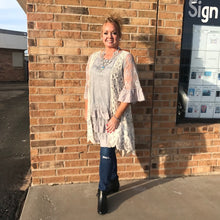 Load image into Gallery viewer, Ingrid Silver Linings Lace Tunic Dress