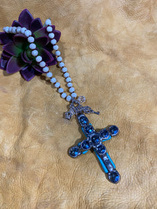Charms and Cross Pendant Necklace