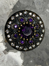Load image into Gallery viewer, Royal Purple Flower Ring