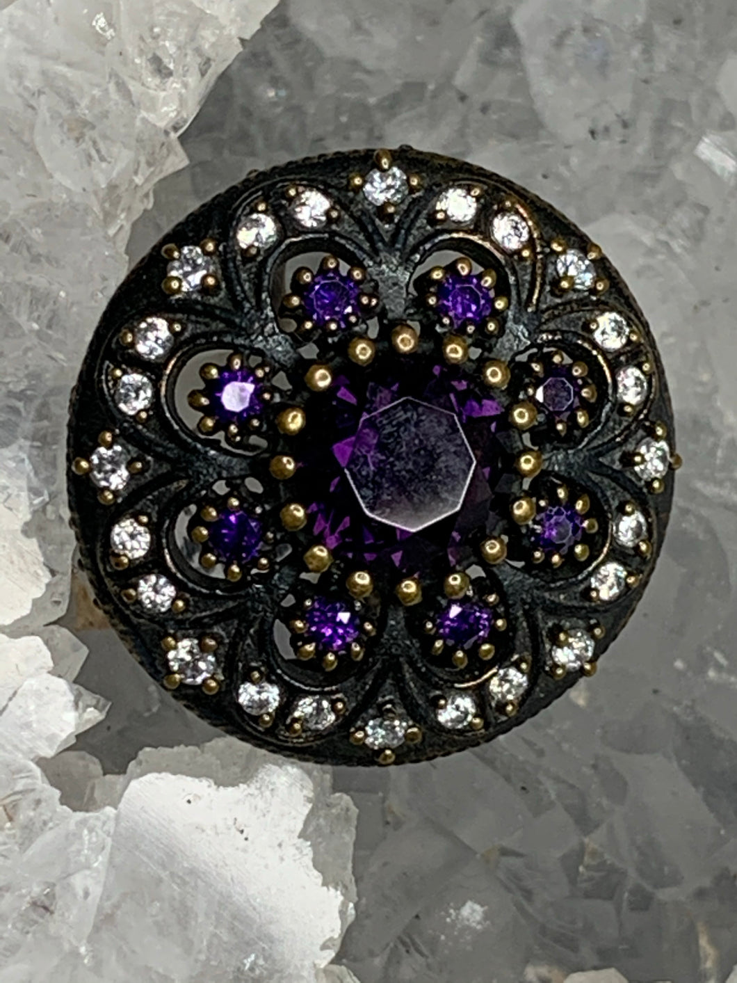 Royal Purple Flower Ring
