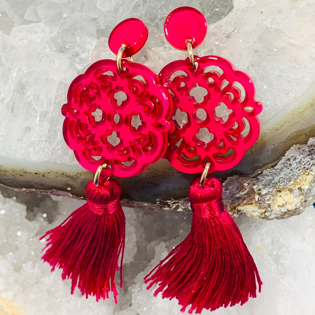 Tassel Flower Earrings by Zenzi