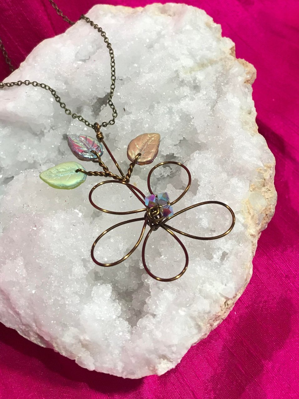 Flower Pendant Necklace by Robin Goodfellow