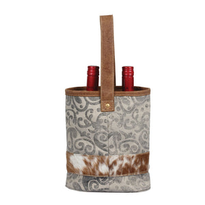 Leaf Print Double Wine Bag