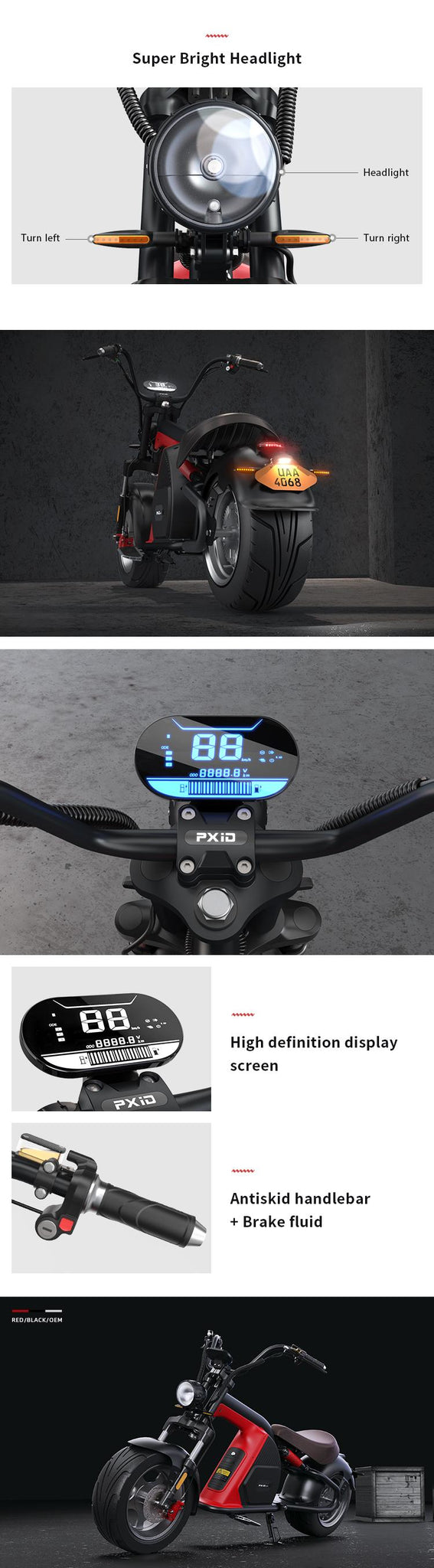 Electric Fat Tire Scooter