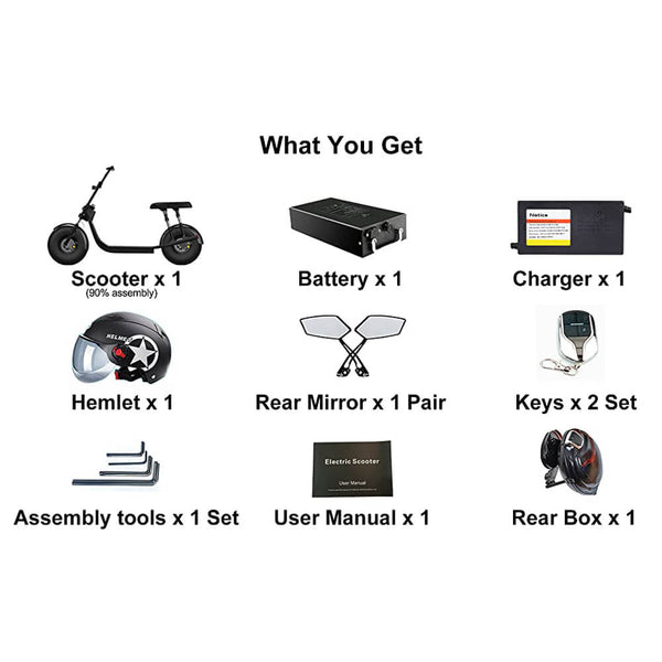 What's included in a citycoco scooter