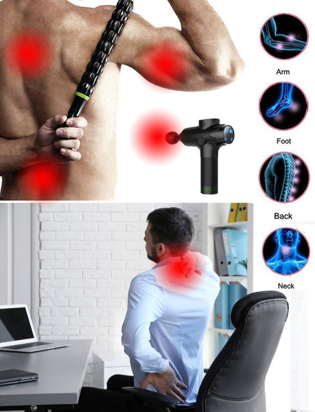 Massage Gun on Stiff Neck