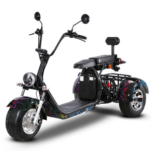 EEC COC Approved 3 Wheel Electric Cargo Scooter with Delivery Basket