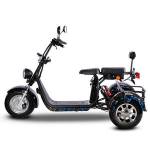 EEC Approved trike citycoco 2000w with Delivery Basket free shipping free tax to door - Fanco Electric Scooter manufacturer