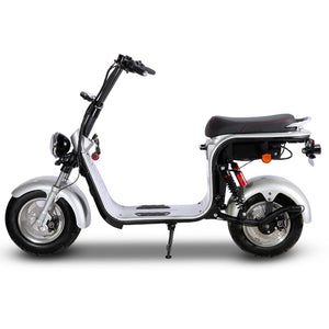 EEC CoC Fat Tire Electric Scooter 2 removable battery, free shipping free TAX to door - Fanco Electric Scooter manufacturer