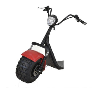 Off Road Citycoco Scooters 1500W Big Wheel Electric Harley Tricycle, 3 Wheel Trike Electric Motorcycles - Fanco Electric Scooter manufacturer