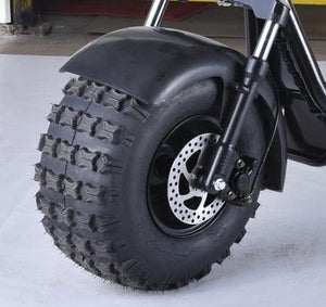 Off Road Citycoco Scooter 1500W Big Wheel Electric Harley Tricycle, 3 Wheel Trike Motorcycles - Fanco Electric Scooter manufacturer