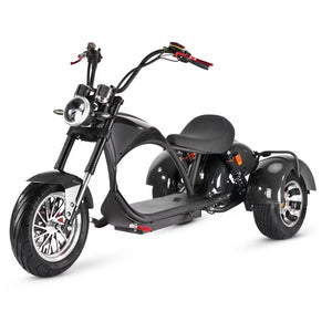 2021 New Model 12 Inch Harley Scooter Three Wheel Electric Citycoco DIY Golf Course Tricycle Scooters - Fanco Electric Scooter manufacturer