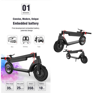 UL2272 Certified 10 Inch Off Road Electric Scooter 10Ah, 350W Motor, Duty Free Shipping from US/Europe Warehouse - CITI ESCOOTER