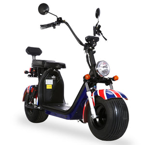 Citycoco 1500W Harley scooter factory Europe ready stock, EEC/COC certified, Free shipping and Tax - Fanco Electric Scooter manufacturer