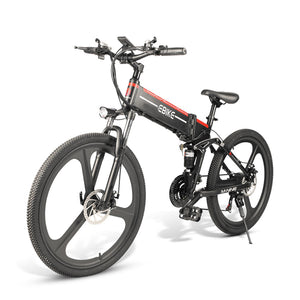 26 IN Electric Folding Mountain Bikes for Adults, 350W with 10AH Removable Battery - CITI ESCOOTER