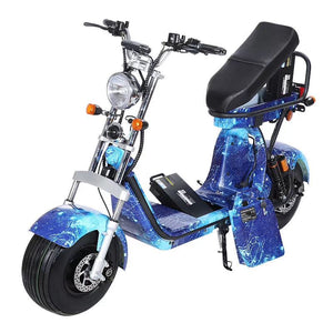 Fat tire Electric scooter 60V 60AH battery, 180km Range, EEC/COC Certified, Free Shipping and Tax in EU - Fanco Electric Scooter manufacturer