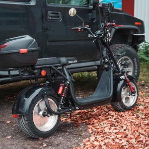 Fat tire electric scooter 60V 40ah, 3000W 80km/h, 120km range with basket - Fanco Electric Scooter manufacturer