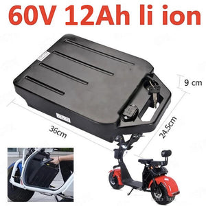 60v 12 ah lithium battery for fat tire scooter - CITI ESCOOTER