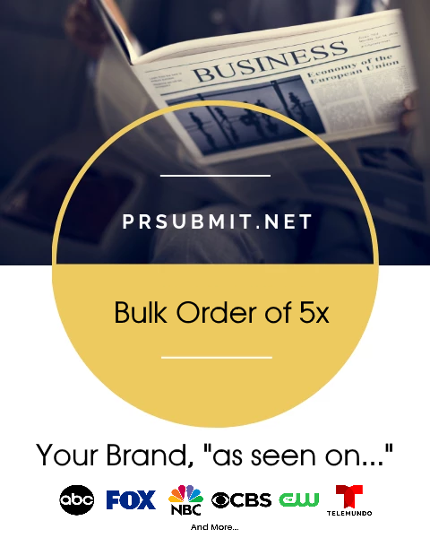 <strong>5x BULK ORDER</strong><br>Bulk Order For 5x Premium Press Releases (Save 20%)