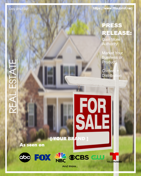 <strong>REAL ESTATE</strong><br>Premium Press Release Tailored for Real Estate