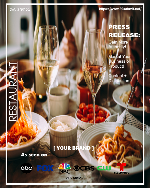 <strong>RESTAURANTS</strong><br>Premium Press Release Tailored for Restaurants