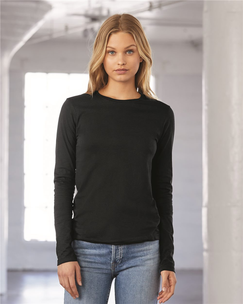 6500 Bella + Canvas Ladies' Jersey Long-Sleeve T-Shirt