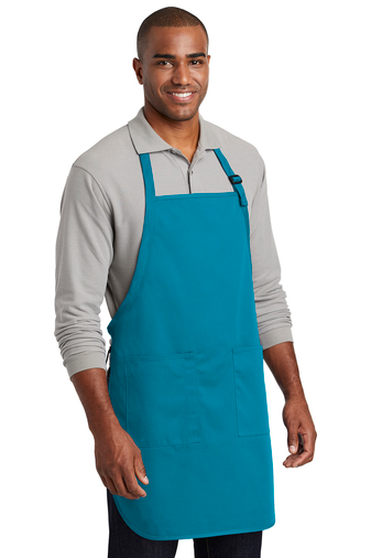 A600 Port Authority ® Full-Length Two-Pocket Bib Apron