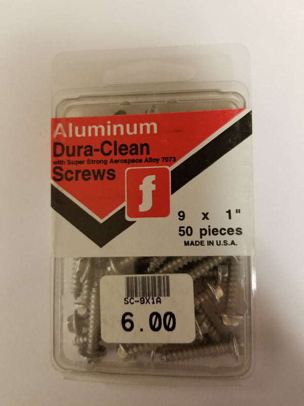 Aluminum Dura-Clean Screws 1 Inch ( Wont Rust )