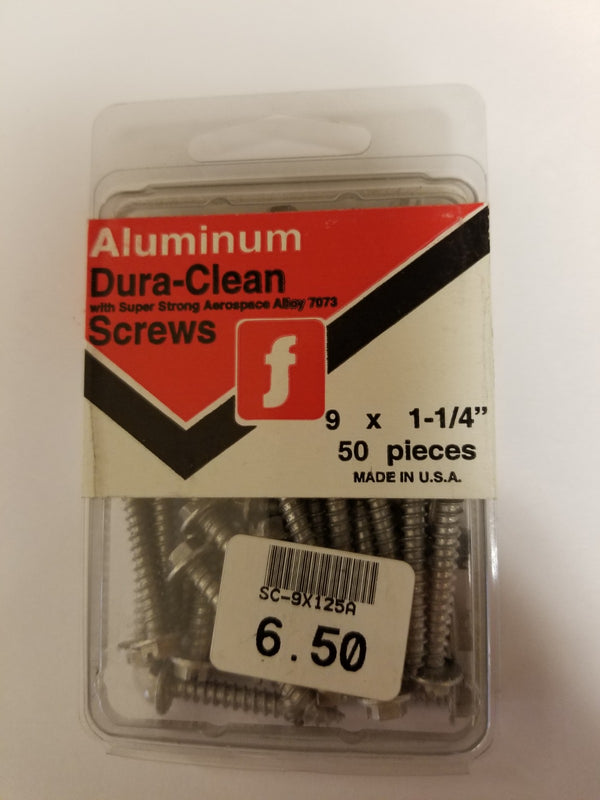Aluminum Dura-Clean 1-1/4 inch Screws ( Wont Rust )