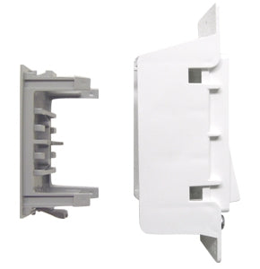 Pass & Seymour White Self Contained Wall Receptacle