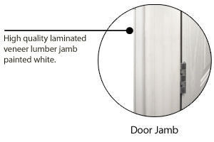 Combination Door for Mobile Homes with Diamond Window