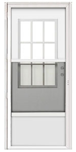 9-Lite Combination Door for Mobile Homes with Cottage Window