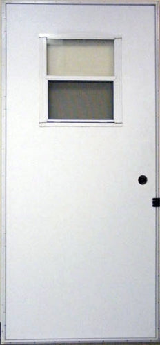 Outswing Door for Mobile Homes with 17x20 slider window