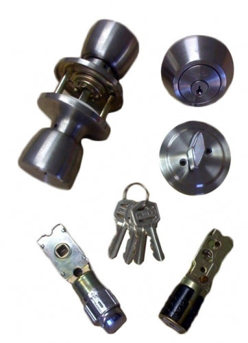 Cardinal Stainless Steel Combination Door Lock Set with Dead Bolt
