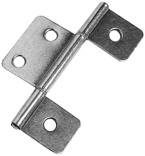 Interior Non-Mortise Door Hinge Pair (Silver)