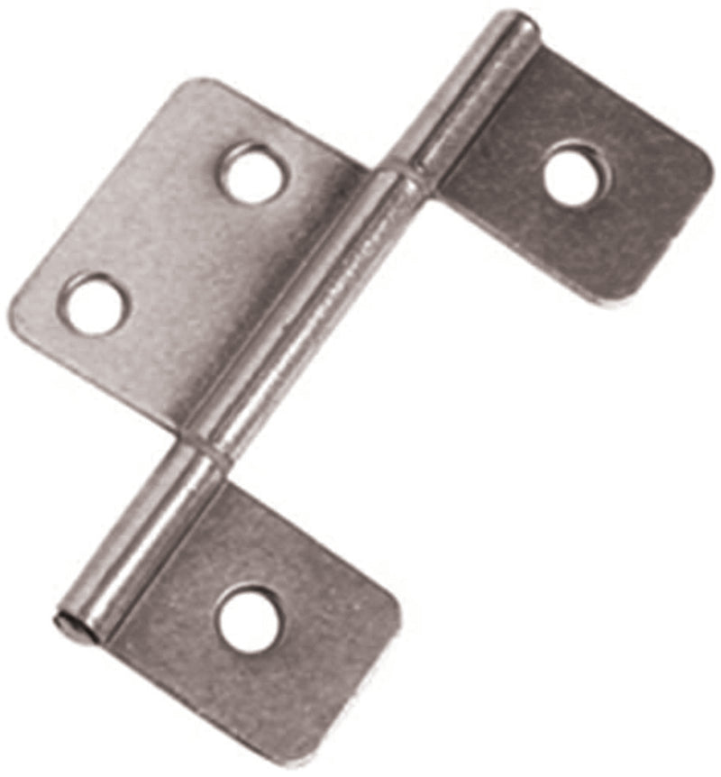 Interior Non-Mortise Door Hinge Pair (Silver) (Wider Center Leaf)