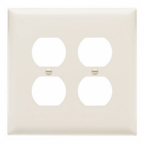 Almond Two Gang Wall Receptacle Plate